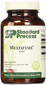 Multizyme contains digestive enzymes to support the proper breakdown of proteins, carbohydrates, and fats.  Enzymes provide support in the gastric and intestinal phases of digestion Supplemental pancreatic enzymes support pancreatic function