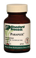 Paraplex by Standard Process  90 Tablets  Paraplex is designed to promote normal carbohydrate metabolism.  Provides Protomorphogen™ extracts with unique profiles of minerals, nucleotides, and peptides along with unknown factors Supports healthy pancreas, pituitary, thyroid, and adrenal gland function Contains a combination of key ingredients from Pituitrophin PMG,Thytrophin PMG, Pancreatrophin PMG, and Drenatrophin PMG*
