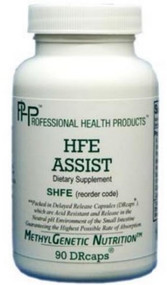 HFE Assist has ingredients to slow the absorption of Iron, and then supports the proper use of iron, so it is not oxidized, or feed to viruses, bacteria, and fungus.  It combines well with GSH Assist, Pro NADH and Pro SOD/Catalase and CBS/BHMT Assist, if there are variants such as BHMT-08 or CBS 699& that may increase cysteine.