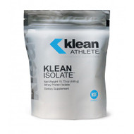 DESCRIPTION  Klean Isolate™ by Klean Athlete™ is a NSF Certified for Sport® supplement that supplies 20 grams of high quality Whey Protein isolate in each serving. With no additional flavorings or sweeteners, Klean Isolate™ can easily be added to any beverage to enhance daily protein and amino acid intake.  TESTED CLEAN OF BANNED SUBSTANCES  † Klean Athlete™ is tested and certified by the NSF Certified for Sport® program, which was created to meet the growing demands of athletes, coaches, and healthcare professionals to certify that sports supplements are safer and free from banned substances.  Leading sports organizations recommended the program, including the NFL, MLB, NHL, PGA, and LPGA.  Every product that carries the NSF Certified for Sport® Mark has undergone stringent laboratory testing to confirm content, purity, and compliance.  To learn more, visit www.nsfsport.com.  FUNCTIONS   The dietary protein provided by Klean Isolate™ supplies essential amino acids, including branched chain amino acids that participate in many of the body's metabolic and physiologic systems. Protein turnover in the body is continuous and can be substantial, and the rebuilding of skeletal muscle that is broken down during exercise is critically important to athletes. The dynamics of this constant degradation and re-synthesis demand a daily supply of dietary protein and their constituent amino acids. Essential or indispensable dietary amino acids must be supplied by the diet as they are not synthesized by the body.  Recent analyses of the dietary protein needs of people suggest that age and activity level may influence protein requirement for optimum health. Some scientists have also suggested that increased protein synthesis follows prolonged exercise. Athletes competing in body building or endurance sports may require significantly more total protein from food and supplements combined, typically in ranges of 1.0-1.5 g protein/kg of body weight.  Whey Protein isolate also contains naturally occurring electrolytes - sodium and potassium to help replenish hydration lost during activity.