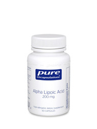 Alpha Lipoic Acid is an exceptionally versatile nutrient; being both water and fat soluble, it is able to function in almost any part of the body. It is manufactured in the body, but often times not in the amounts necessary to perform its many functions. Alpha Lipoic Acid is a potent antioxidant which neutralizes harmful free radicals and enhances the activity of vitamins C and E. A key component of the metabolic process, alpha lipoic acid produces energy in muscles and directs calories into energy production. In addition, this potent nutrient helps sustain normal blood sugar levels, supports the nervous system, and provides nutritional support for normal liver functioning.   Alpha Lipoic Acid is a multifunctional, versatile nutrient which plays a key role in the antioxidant network and the metabolic process.   Ingredients per capsule:  Alpha lipoic acid (thioctic acid) 200 mg.  Vitamin C (as ascorbyl palmitate) 16 mg.   Other ingredients: hypo-allergenic plant fiber, vegetable capsule