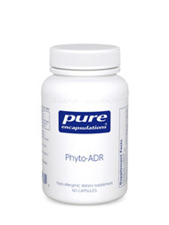 This vegetarian formula provides wide range herbal and nutritional support for the adrenal glands. Panax ginseng and Eleutherococcus senticosus, or eleuthero, are highly recognized adaptogens, promoting physiological balance and resistance to stress. In part, they help to moderate the production of adrenocorticotrophic hormone (ACTH) and ultimately corticosterone activity. Corticosterone promotes the conversion of amino acids into carbohydrates and glycogen by the liver and stimulates glycogen formation in the tissues, supporting optimal energy reserves. Rhodiola rosea, containing rosavins and salidrosides, also acts to balance hypothalamic-pituitary-adrenal activity. Rhodiola can have a calming effect on the central nervous and supports healthy thyroid, thymus, and adrenal gland function. In particular, rhodiola may moderate the effects of physical and emotional stress. Recently, a double blind cross-over study suggests that rhodiola may help to moderate fatigue under stressful conditions. Astragalus and ashwagandha promote immune support and complement the adaptogenic activity of this formula. Calcium pantothenate, a vitamin B5 derivative, is essential for activating the adrenals. Collectively, these ingredients support the health and activity of the adrenal glands.