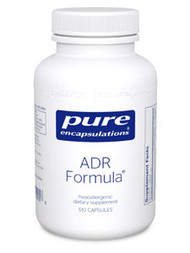 This formula combines the whole adrenal and adrenal cortex with a mixture of herbs that nutritionally supports the adrenal glands. Panax ginseng and Eleutherococcus senticosus, or eleuthero, are used primarily as adaptogens, supporting overall health by a wide range of physical, chemical, and biochemical factors. The ingredients in this formula support the production of certain adrenal hormones and maintain a healthy immune response.