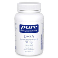 DHEA, dehydroepiandrosterone, is the most abundant adrenal steroid hormone in the body. After it is made by the adrenal glands, it travels into cells throughout the body where it is converted into androgens and estrogens. These hormones regulate fat and mineral metabolism, endocrine and reproductive function, and energy levels. The amount of each hormone that DHEA converts to depends on an individuals biochemistry, age, and sex. DHEA levels peak around age 25 and then decline steadily. DHEA supplementation has been associated with increased emotional well-being and immune function.