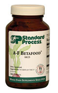 A-F Betafood by Standard Process  360 tablets  A-F Betafood uses an array of ingredients, including beet juice, which is a natural source of betaine, to support healthy fat digestion. Supports normal processing of dietary fats, for cholesterol-metabolism support Supports healthy bowel functioning Supports bile production in the liver and healthy bile flow in the gallbladder Helps maintain healthy levels of fat in the liver Contains a combination of key ingredients from Cataplex A, Cataplex F, andBetafood High in antioxidant vitamin C*