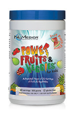 Power Fruits and Veggies for Kids - 30 svgs Fruit & Greens Formula Featuring High ORAC in a Tasty Fruit Punch Flavor Power Fruits and Veggies® for Kids is a delicious and nutritious super food drink for children and adults.* It is gluten free and formulated with a dozen different berries and more than 50 wholesome ingredients including mangosteen, noni, açaí and goji. Each scoop of Power Fruits and Veggies® for Kids has a high ORAC value, providing powerful antioxidant protection.* ORAC (Oxygen Radical Absorbance Capacity) is a method of measuring antioxidant capacities of different foods. Consuming foods with high antioxidant capacity is believed to play an important role in the elimination of free radicals and in the achievement of physiological balance.*     Each Serving also Provides:     ●   Natural Vitamins, Minerals and Antioxidants   ●   Essential Fatty Acids (Omega 6 & 9) from Açaí Berries   ●   Probiotics and Enzymes to Aid in Digestion*