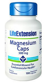 Magnesium Caps 500 mg by Life Extension ( LifeExtension ) 100 vege capsules