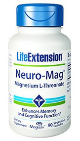 Neuro-Mag® Magnesium L-Threonate By Life Extension 90 VCaps