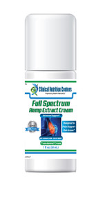 Full Spectrum Hemp Extract Cream by Clinical Nutrition Centers 1 oz ( 30 ml )