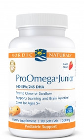 Pro Omega Junior by Nordic Naturals 90 Softgels Strawberry flavor