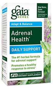 Adrenal Health® Daily Support By Gaia Herbs 60 ct