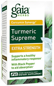 Turmeric Supreme Extra Strength By Gaia Herbs 120 Capsules