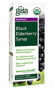Black Elderberry Syrup By Gaia Herbs 5.4 oz Bottle