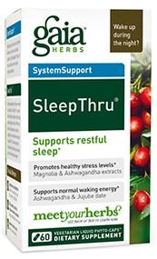 SleepThru® By Gaia Herbs 60 Capsules