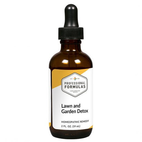Image of a bottle of Lawn and Garden Detox herbal supplements by PCHF