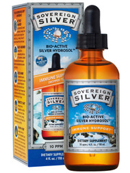 Silver Hydrosol by Sovereign Silver 10 ppm 4 oz ( 118 ml )