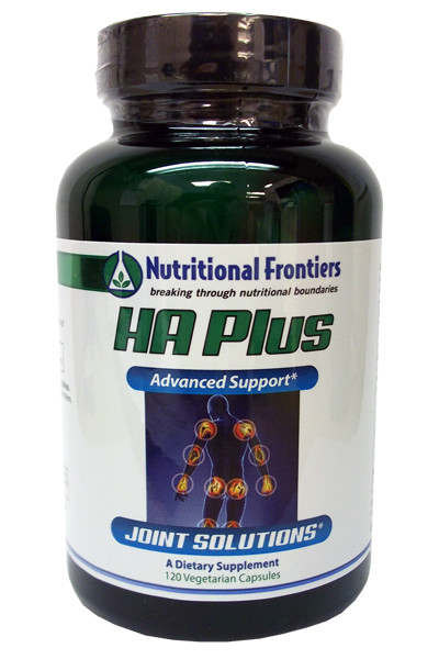 An image of a bottle of HA Plus joint relief supplements from Clinical Nutrition Centers