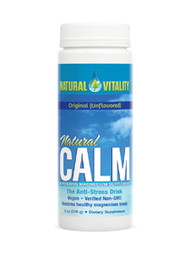 Natural Calm Original (unflavored) 8oz  Dietary Supplement  The Anti-Stress Drink. Balances your calcium intake*. Restores healthy magnesium levels*. If you are taking supplemental calcium for bone health, try Osteo Calm, our liquid calcium-magnesium formula. Multi award-winning Natural Calm is the best-selling magnesium supplement in the natural products market.  DIRECTIONS: Place powder in a glass or mug; add 2–3 oz of hot water. Let it fizz, then stir until dissolved. Fill with warm or cold water and enjoy. You can also simply add Natural Calm to a glass or bottle of cold water. Use only as directed. SERVING SIZE: Individual needs may vary. Start with one half teaspoon (1 g) daily and gradually increase to 2 slightly rounded teaspoons (4.5 g) as needed.   Natural Calm can be taken with or without food. When bowels are comfortably loose, this is the optimal amount.  Supplement Facts Serving Size: 2 rounded teaspoons (4.5 g) Servings per Container: 50 Amount per Serving Magnesium 350 mg Ingredients: Ionic magnesium citrate (created from a highly absorbable proprietary blend of citric acid and magnesium carbonate). VEGAN. GLUTEN FREE. Contains no yeast, dairy, egg, soy, wheat, sugar, starch, preservatives or artificial color or flavor. No added fructose. Cruelty free.