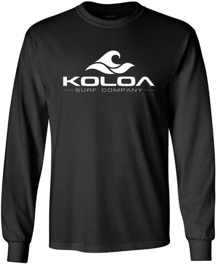 Koloa Surf Co. Wave Logo Long Sleeve Heavy Cotton T-Shirt