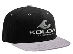 Koloa Surf Grey/Black Solid Snapback Hat with Grey Embroidered Logo