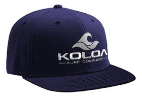 Koloa Surf Navy Solid Snapback Hat with White Embroidered Logo