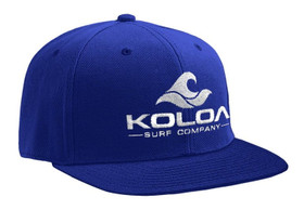Koloa Surf Royal Solid Snapback Hat with White Embroidered Logo