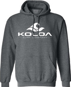 Dark Heather Grey with White logo