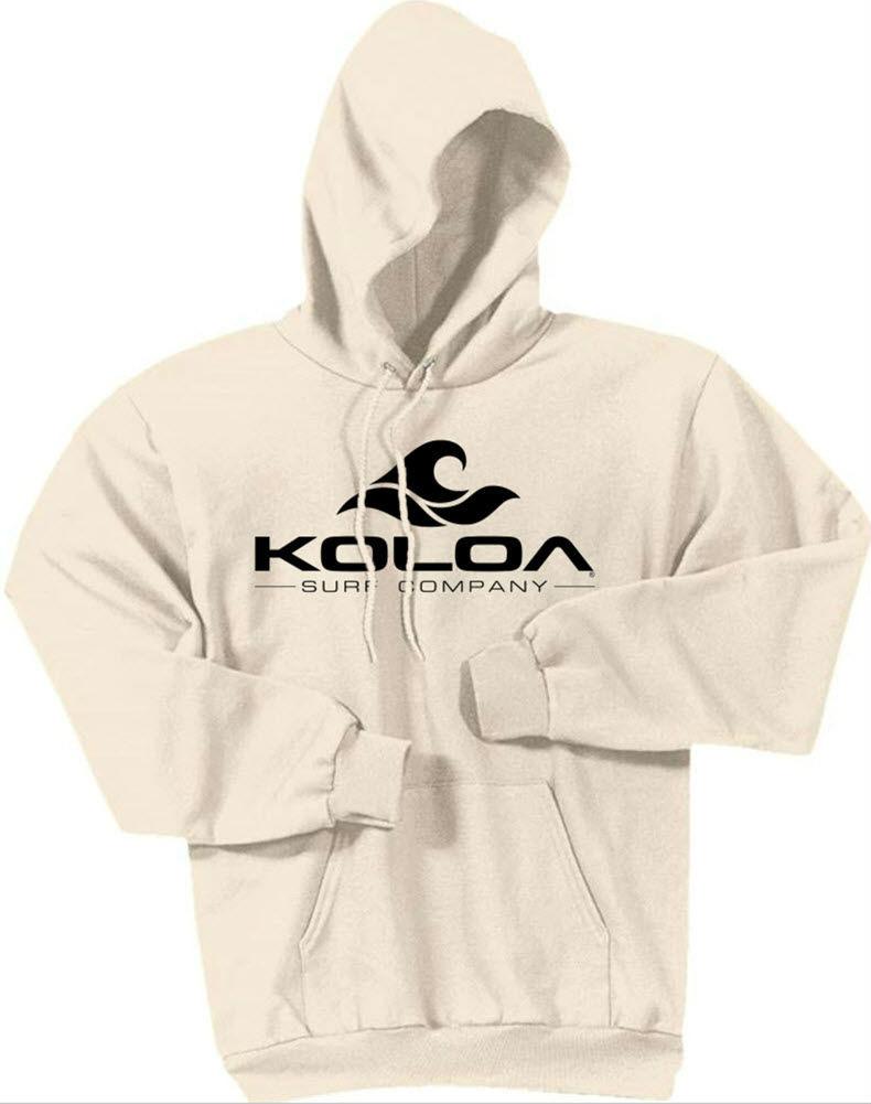 3bc963372e22b ... Koloa Surf Hoodies Classic Wave Logo Hooded Sweatshirt - Natural with  Black logo. Natural with Black logo