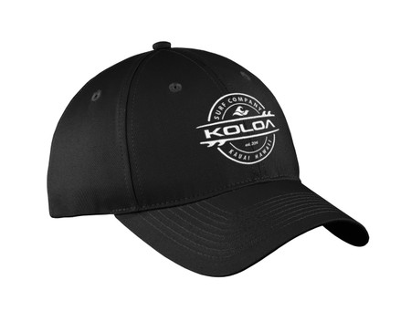 Black with White Embroidered logo