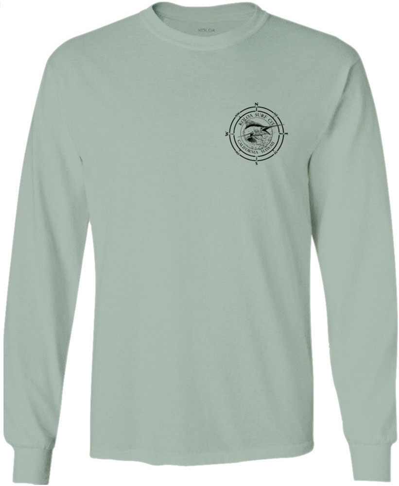 7b81c09df ... Koloa Surf Long Sleeve Black Marlin Cotton T-Shirt. Regular, Big &  Tall. Stonewash Green / Black logo