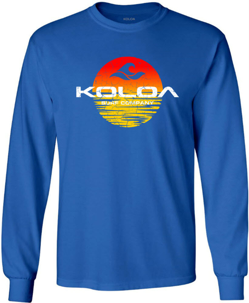 db95f0835 ... Koloa Surf Sunset Logo Heavyweight Cotton Long Sleeve T-Shirt. Regular,  Big & Tall. Royal Blue. Royal Blue. Click to enlarge