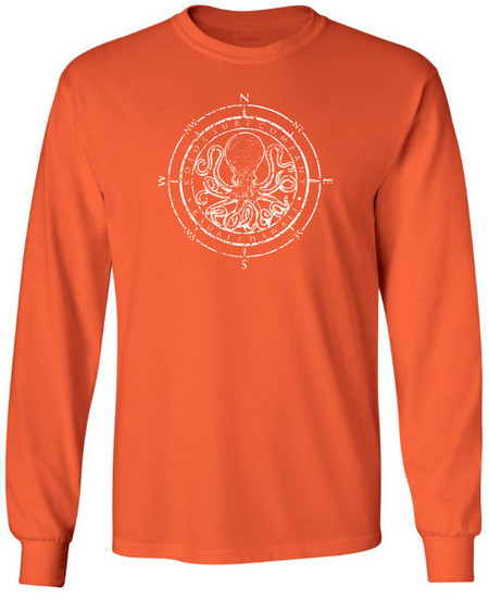 49e57e9672afc5 Koloa Surf Octopus Logo Heavy Cotton Long Sleeve T-Shirts