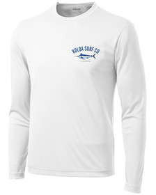 Koloa Surf Blue Marlin WHITE Moisture Wicking Long Sleeve T-Shirt