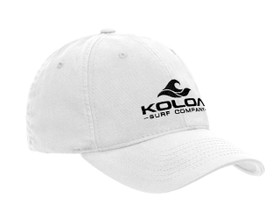 Koloa Surf Wave Logo Unstructured Soft Hats. Low Profile Adjustable Caps