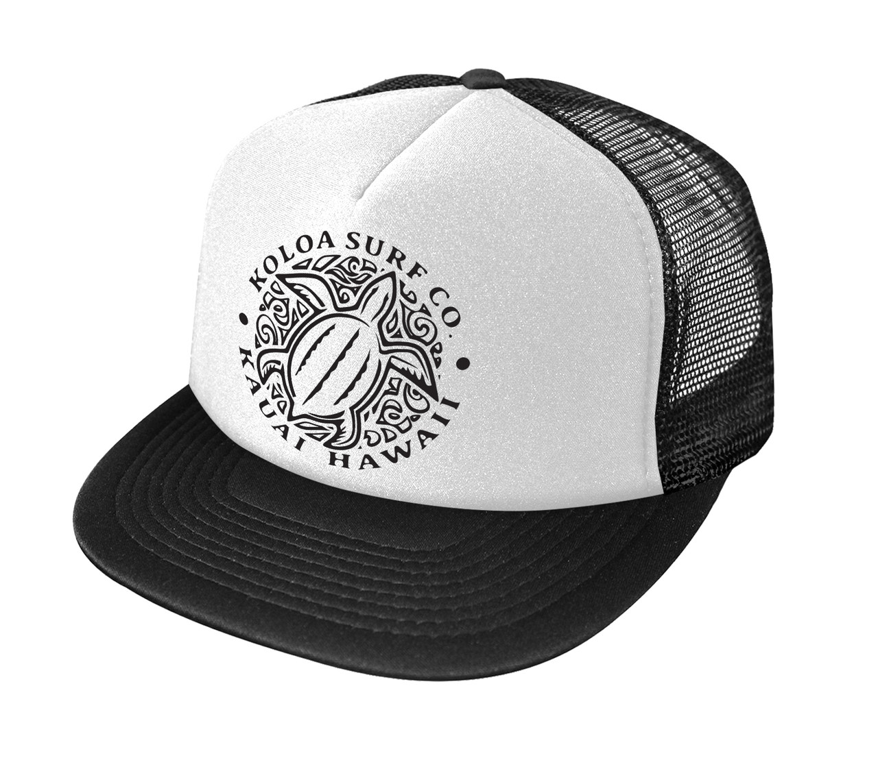 3c0fbd4ef3fac2 Koloa Surf Co. Hawaiian Turtle Honu Logo Mesh Back Trucker Hat ...