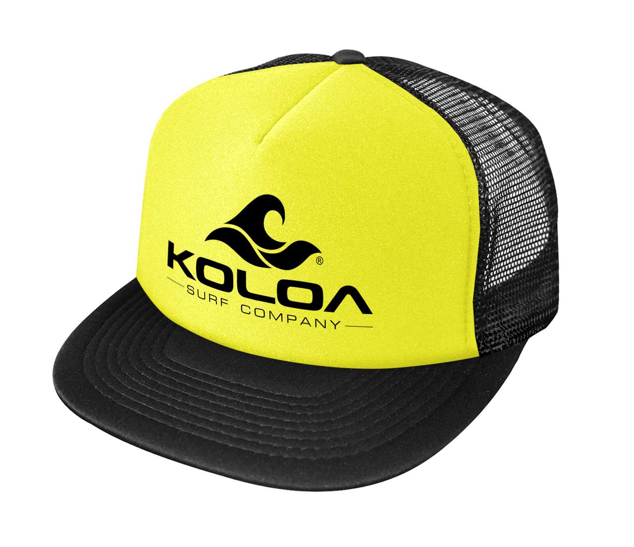 70d4b4fd30f5 Koloa Surf Co. Wave Logo Poly-Foam Mesh Snapback High Profile ...