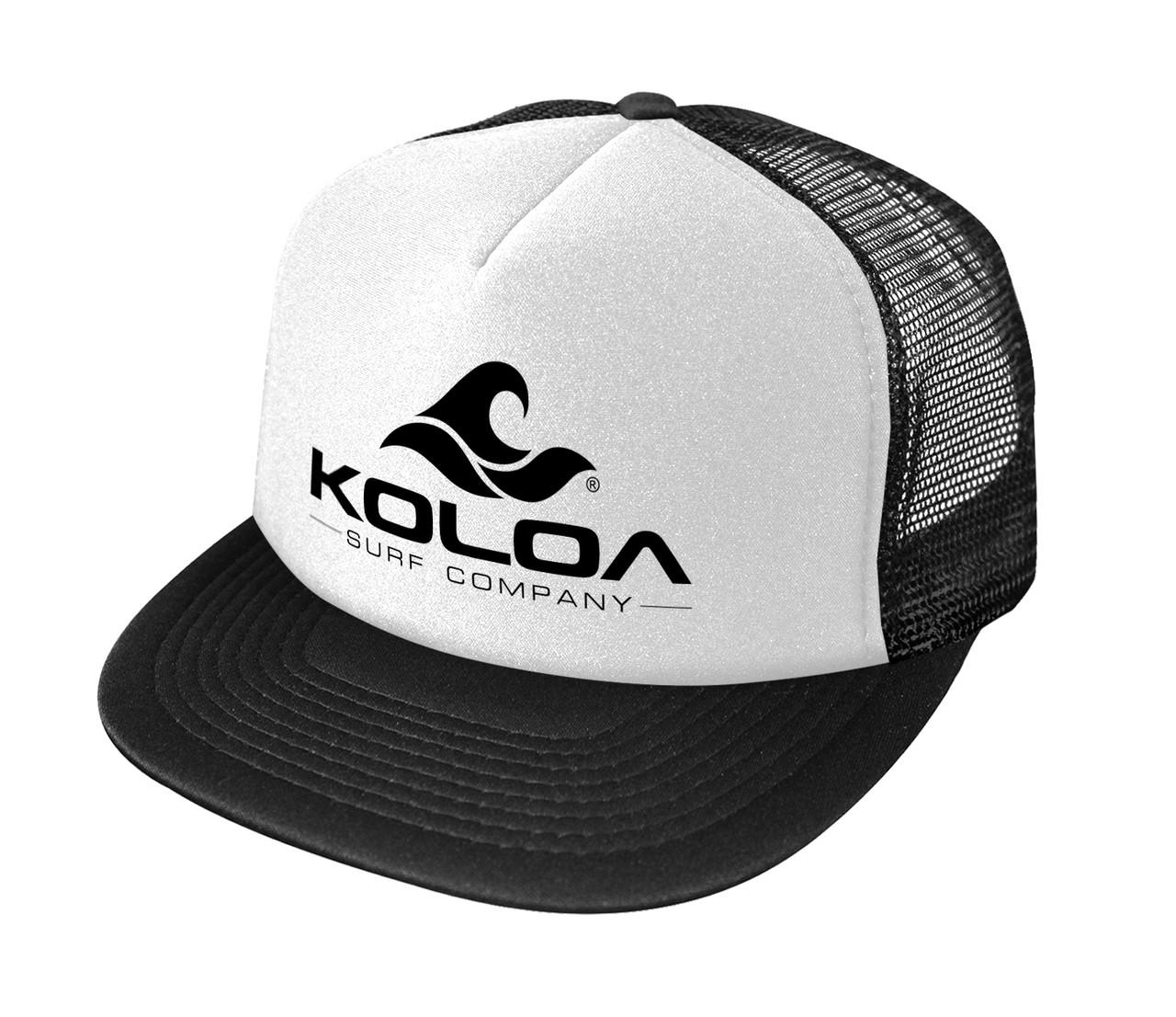 acff4e16d80 Koloa Surf Co. Wave Logo Poly-Foam Mesh Snapback High Profile ...