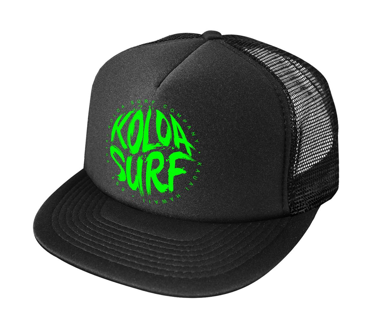 469ffcee194 ... Printed Logo Poly-Foam Mesh Snapback High Profile Trucker Hats Black    Green logo. White   Green logo