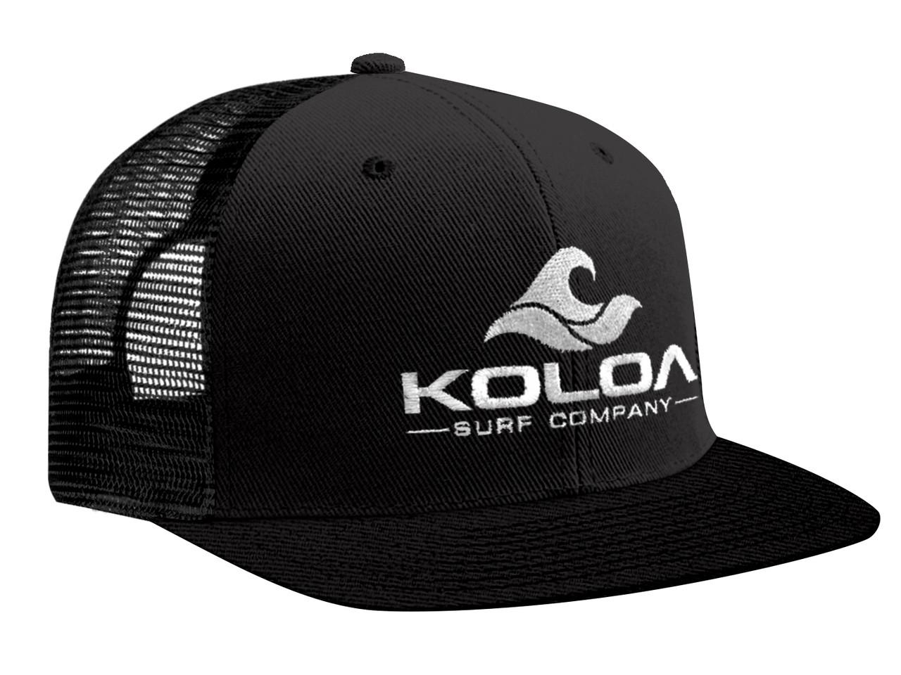 Koloa Surf Premium Embroidered Classic Wave Logo Mesh Snapback Trucker Hat Co.