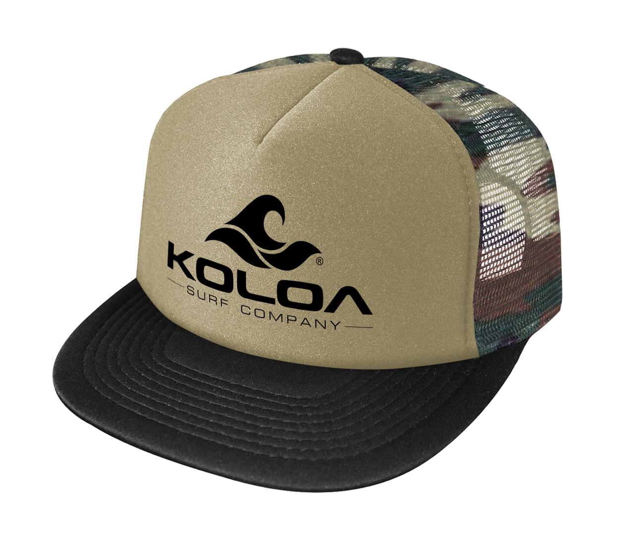 acff4e16d80 Koloa Surf Co. Wave Logo Poly-Foam Mesh Snapback High Profile ...