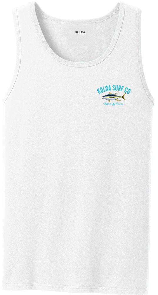 50593dbf21af0 ... Koloa Surf Yellowfin Tuna Logo Tank Tops. White