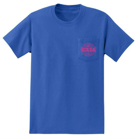 Royal Blue / Pink logo