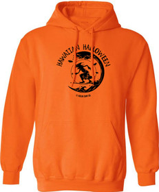 Koloa Surf Surfing Halloween Witch Orange Pullover Hooded Orange Sweatshirt