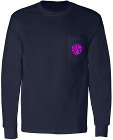 Navy / Pink logo