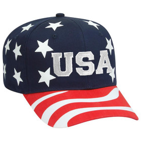 Koloa Surf Embroidered USA Six Panel Cap