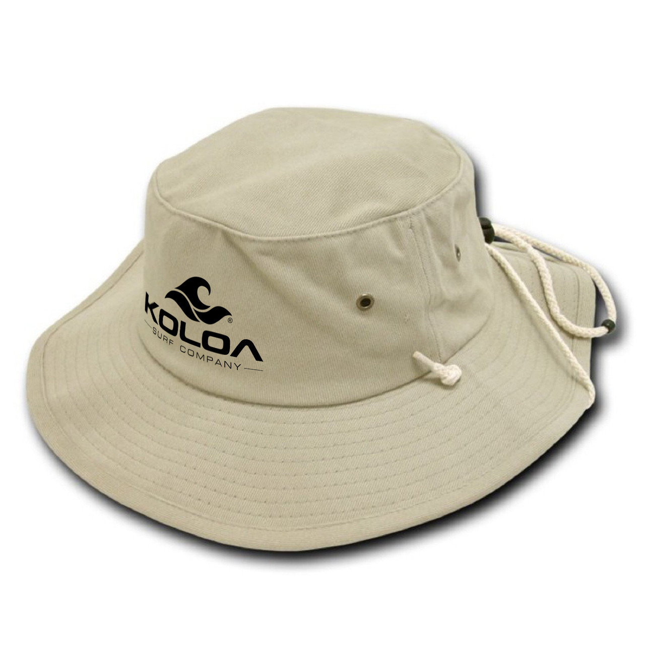Koloa Surf Co. Aussie Style Outback Drawstring Adult Bucket Hat d1db0541b50