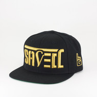 SAVED Ambigram Snapback (black-black) Gold