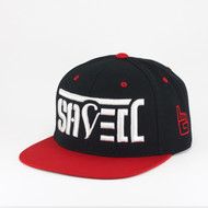 SAVED Ambigram Snapback (Classic Black & Red)