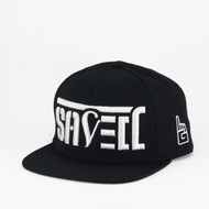 SAVED Ambigram Snapback (Black - Black) BASAL