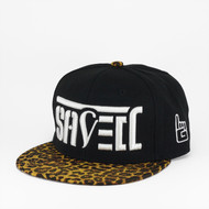SAVED Ambigram Snapback (Leopard - Black)